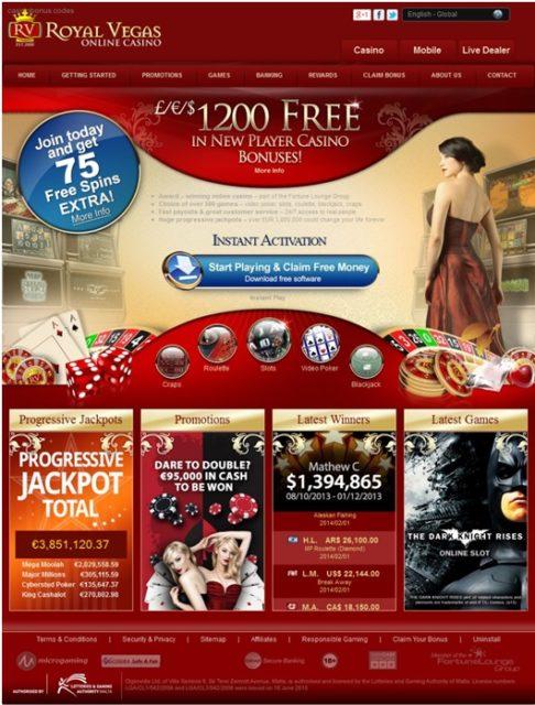 Casino online Royal Vegas para jogar jogos de casino instantâneos