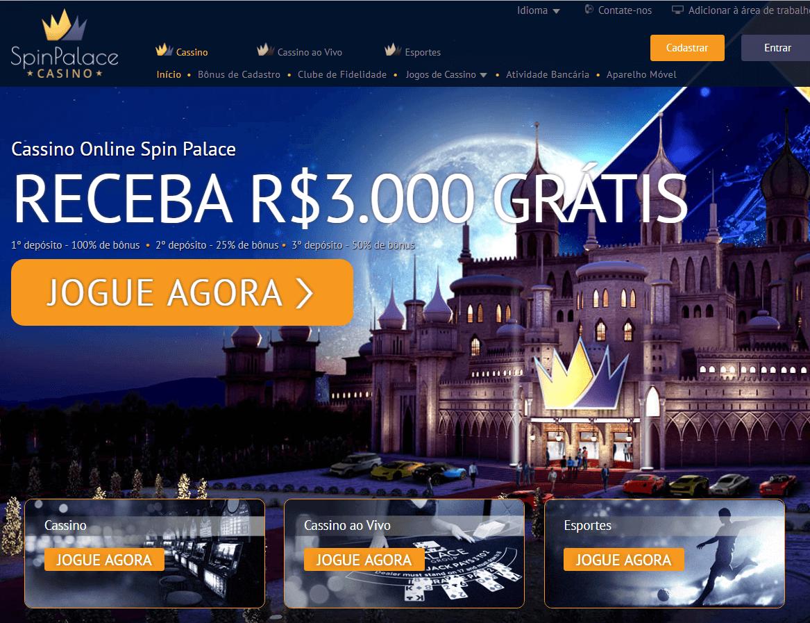 Cassino Online Spin Palace- Bonus