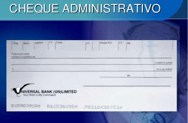 Cheques Administrativos
