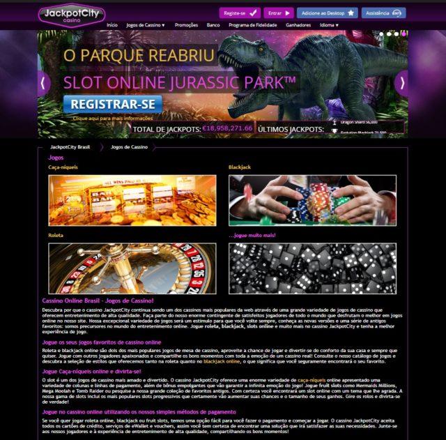 Jackpot city casino- jogos para jogar