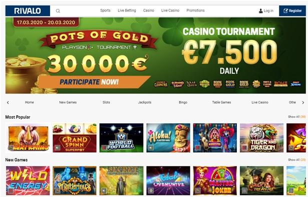 O cassino online Rivalo oferece ótimas máquinas caça-níqueis; cassino ao vivo, jogos de mesa e muito mais