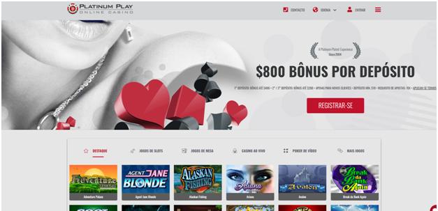Platinum play casino online para apostadores brasileiros