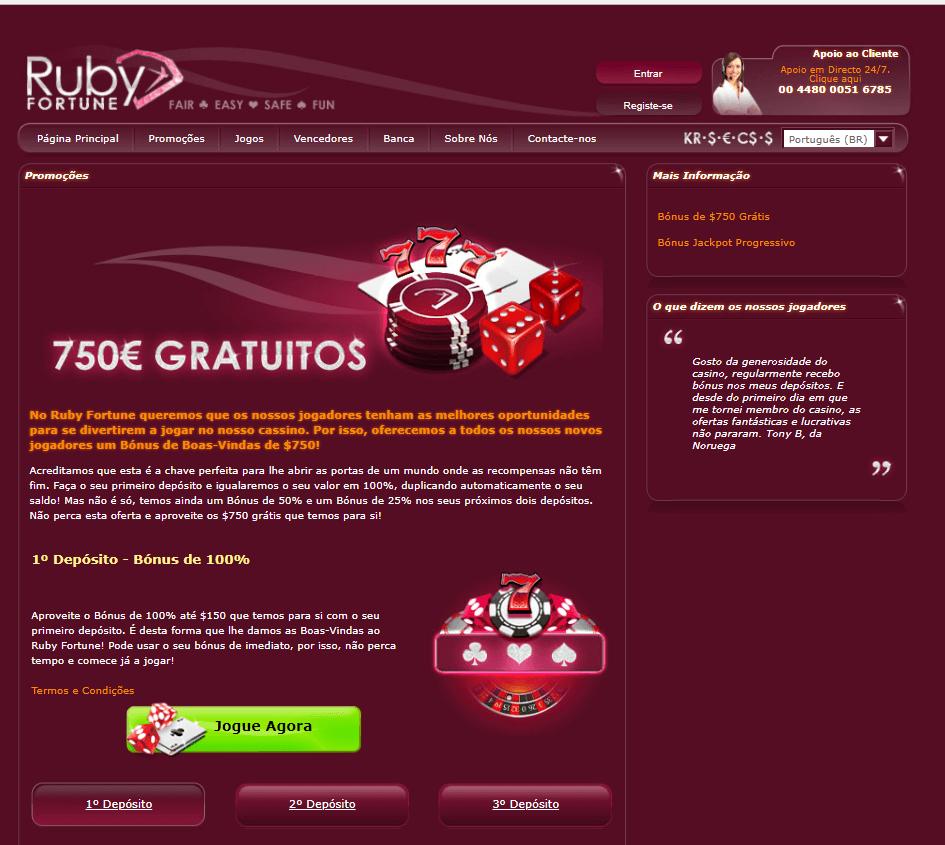 Promoções- Ruby Fortune