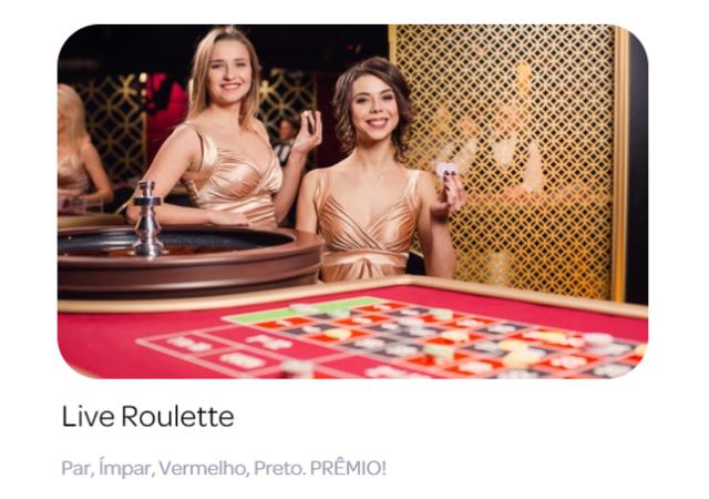 Roleta ao vivo no casino online