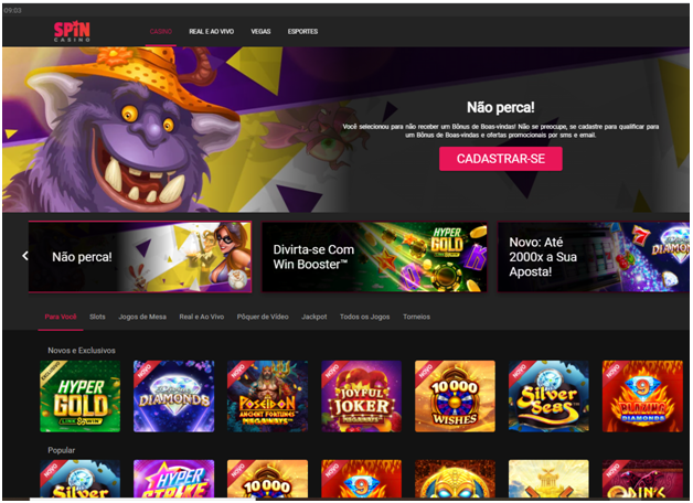Spin Casino para apostadores brasileir