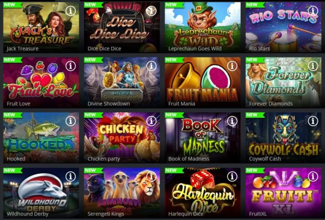 Novos jogos Jaak casino