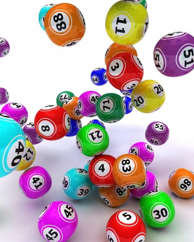 bolas coloridas de sorteio